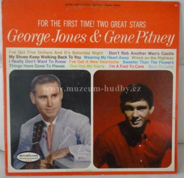 George Jones & Gene Pitney - For The First Time! Two Great Stars (1965)