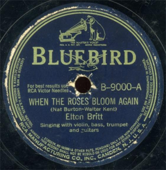 Elton Britt - When The Roses Bloom Again / There's A Star Spangled Banner Waving Somewhere (1942)